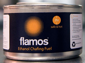 Flamos chafing fuel